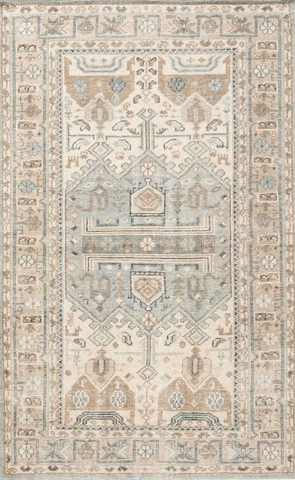 Nicolette Hand Knotted Rug – Cool Multi Pottery Barn