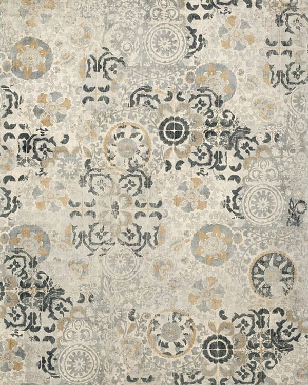 Talia Printed Rug – Grey Pottery Barn